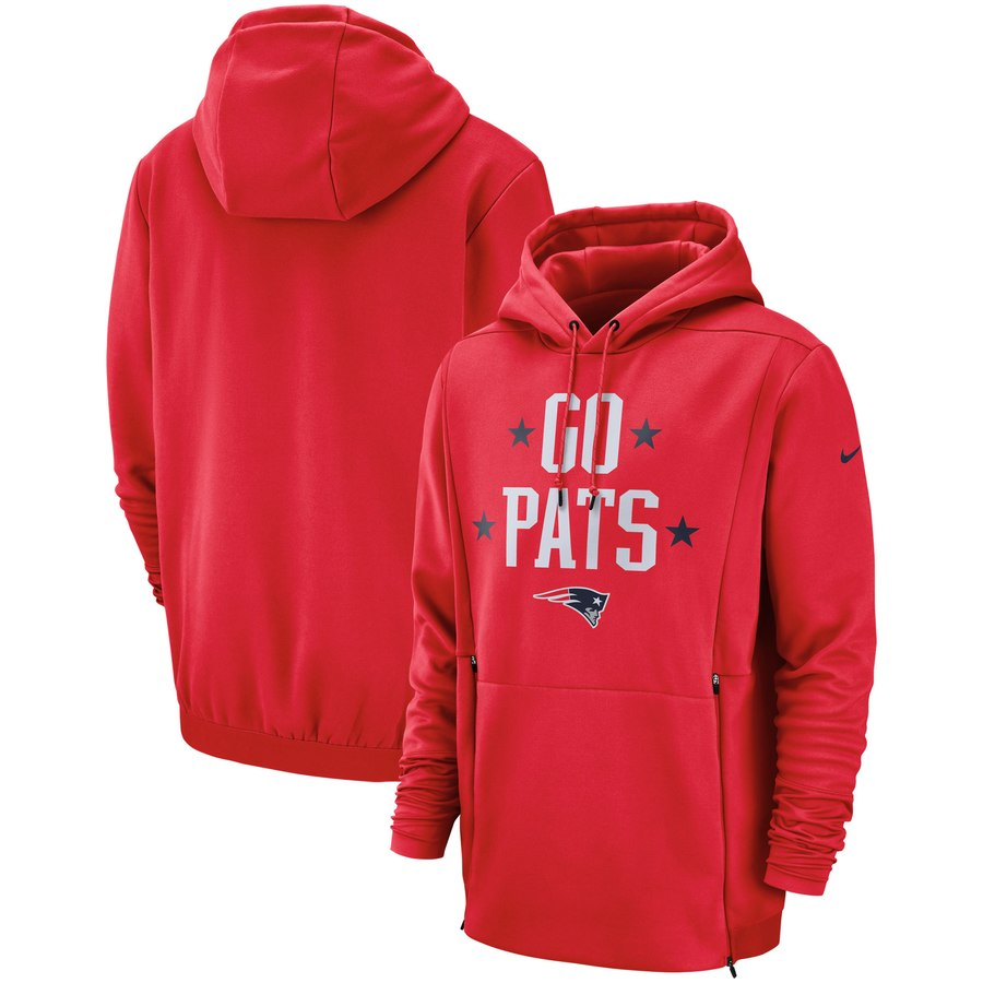 New England Patriots Nike Sideline Local Lockup Pullover Hoodie Red