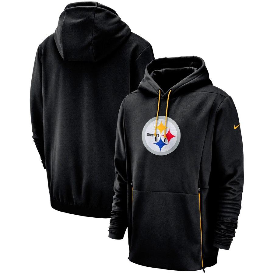 Pittsburgh Steelers Nike Sideline Performance Player Pullover Hoodie Black