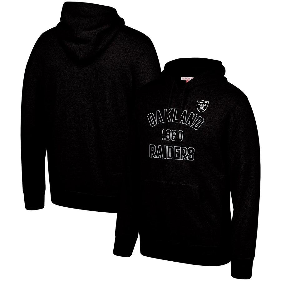 Oakland Raiders Mitchell & Ness Team History Pullover Hoodie Black