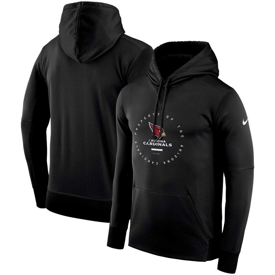 Arizona Cardinals Nike Sideline Property Of Wordmark Logo Performance Pullover Hoodie Black