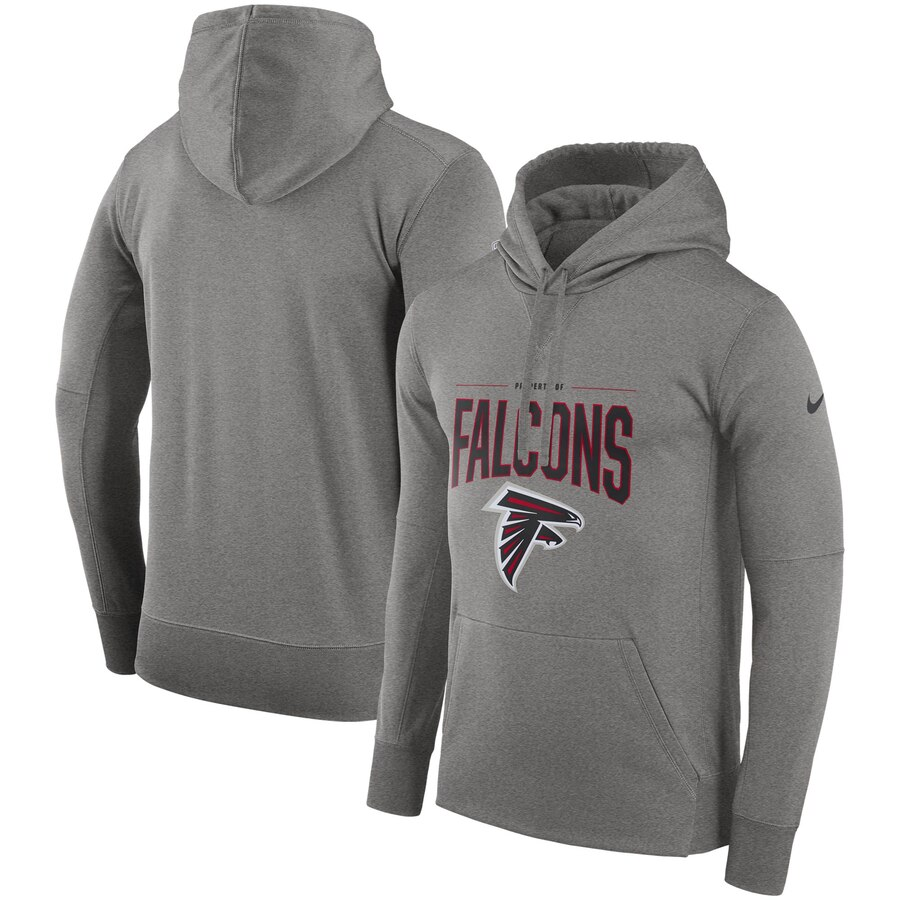 Atlanta Falcons Nike Sideline Property of Performance Pullover Hoodie Gray