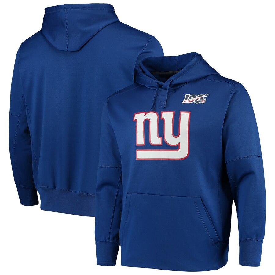 New York Giants Nike 100th Season Primary Logo Circuit Performance Pullover Hoodie Royal