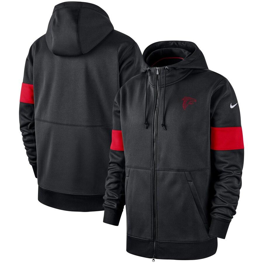 Atlanta Falcons Nike Sideline Performance Full-Zip Hoodie Black