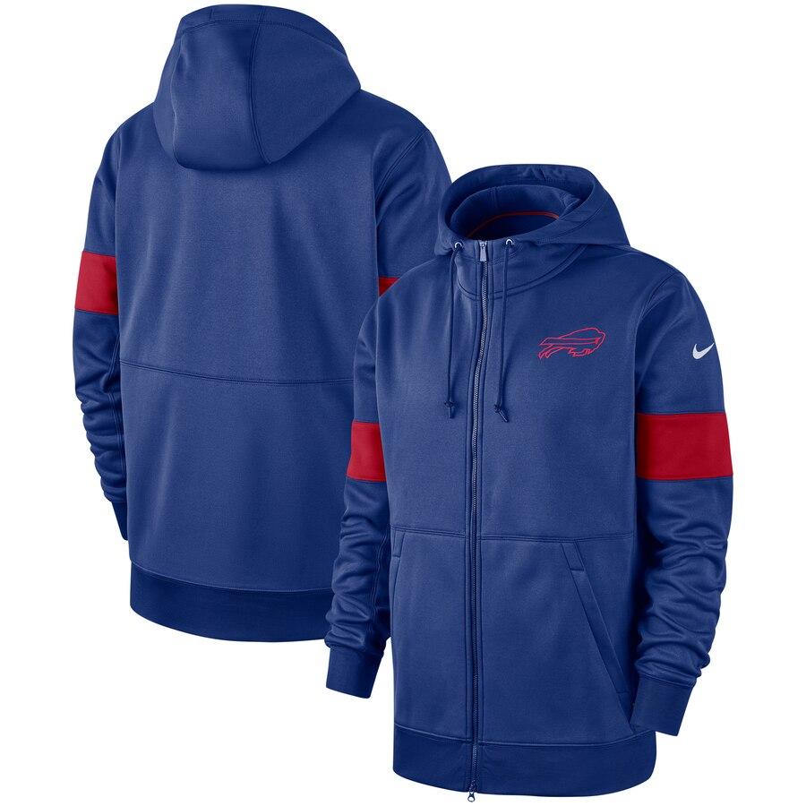 Buffalo Bills Nike Sideline Performance Full-Zip Hoodie Royal
