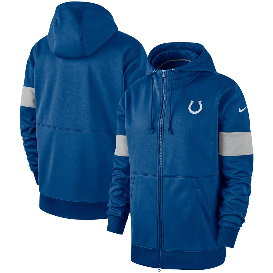Indianapolis Colts Nike Sideline Performance Full-Zip Hoodie Royal