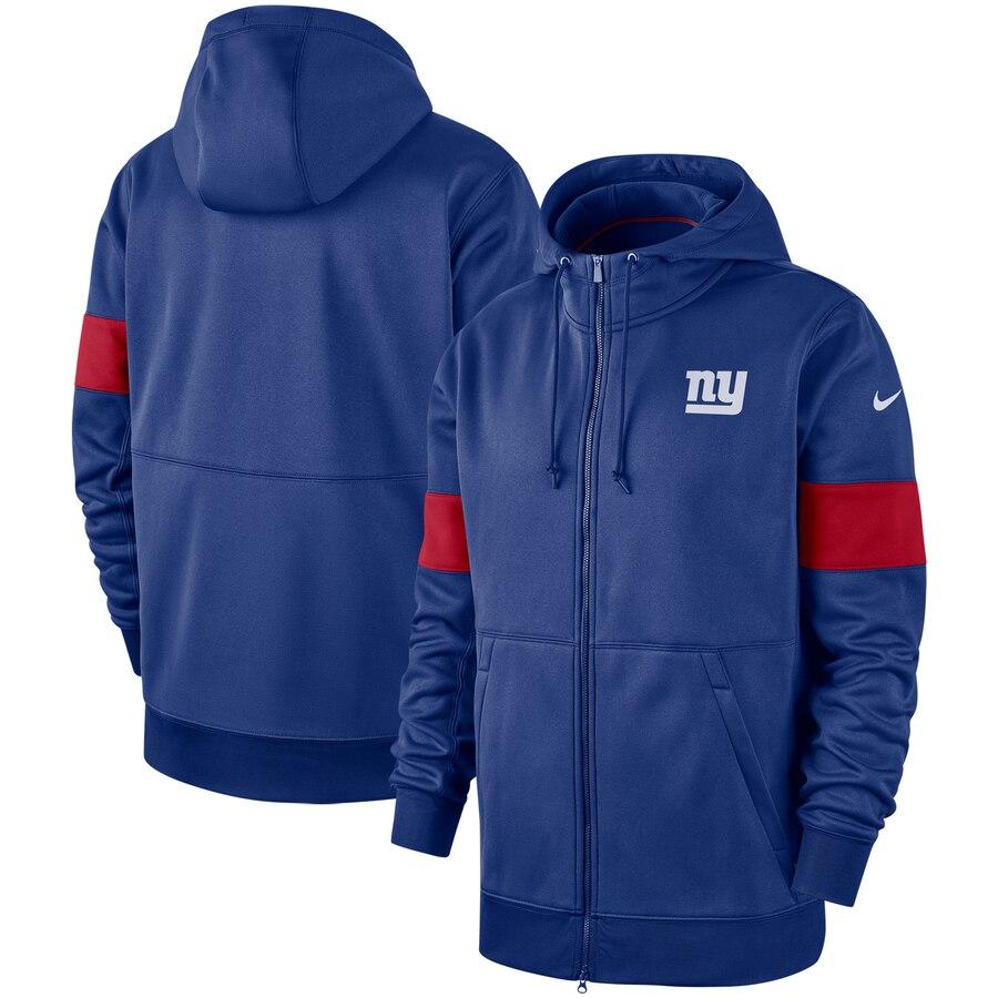 New York Giants Nike Sideline Performance Full-Zip Hoodie Royal