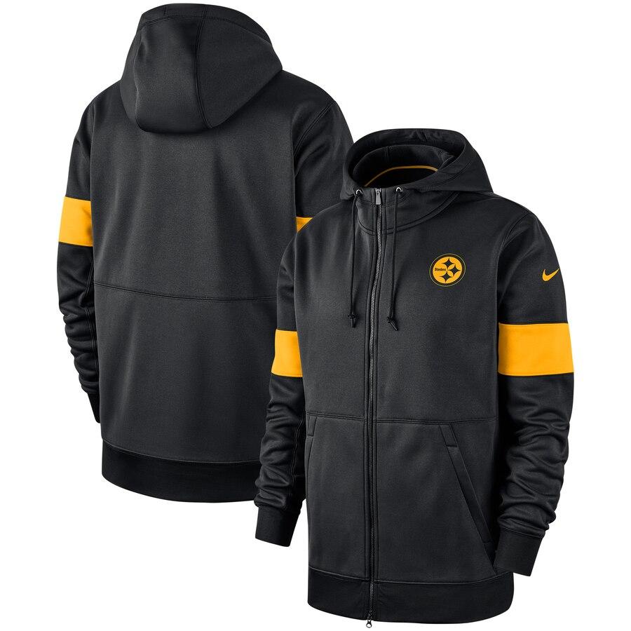Pittsburgh Steelers Nike Sideline Performance Full-Zip Hoodie Black