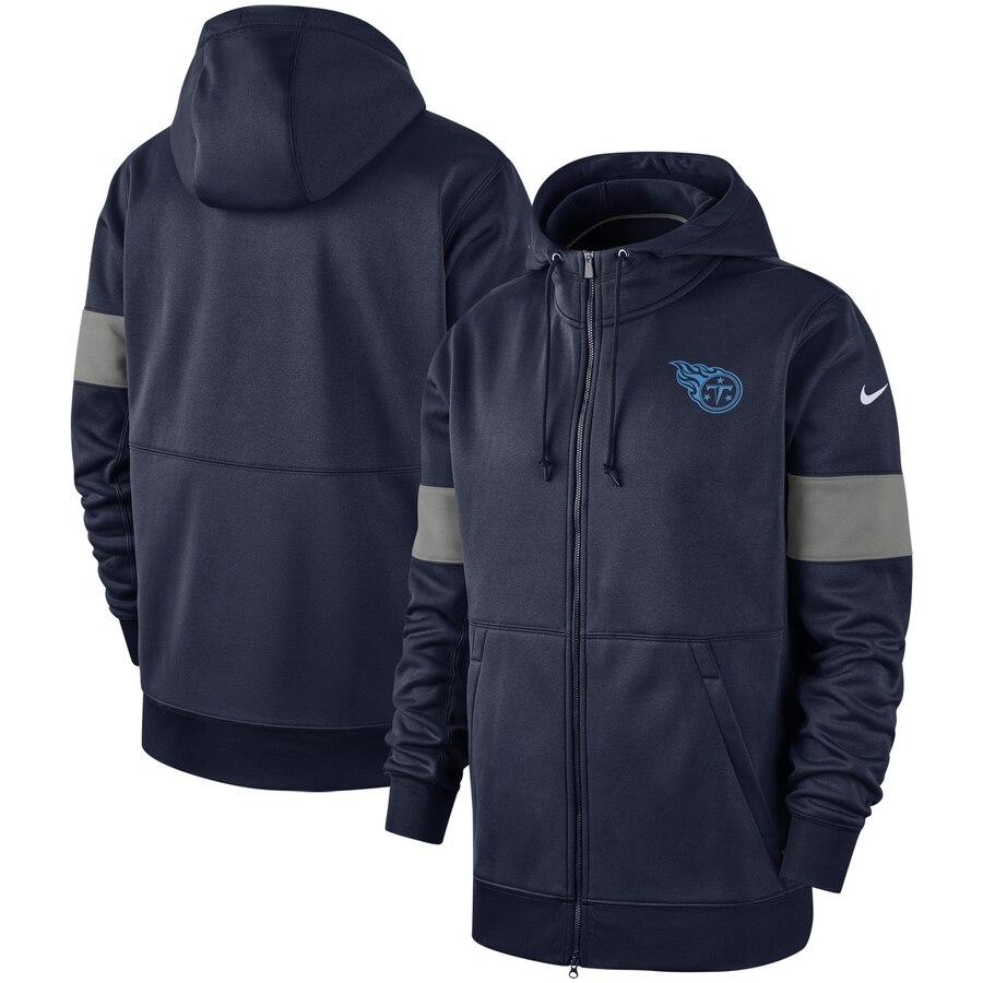 Tennessee Titans Nike Sideline Performance Full-Zip Hoodie Navy