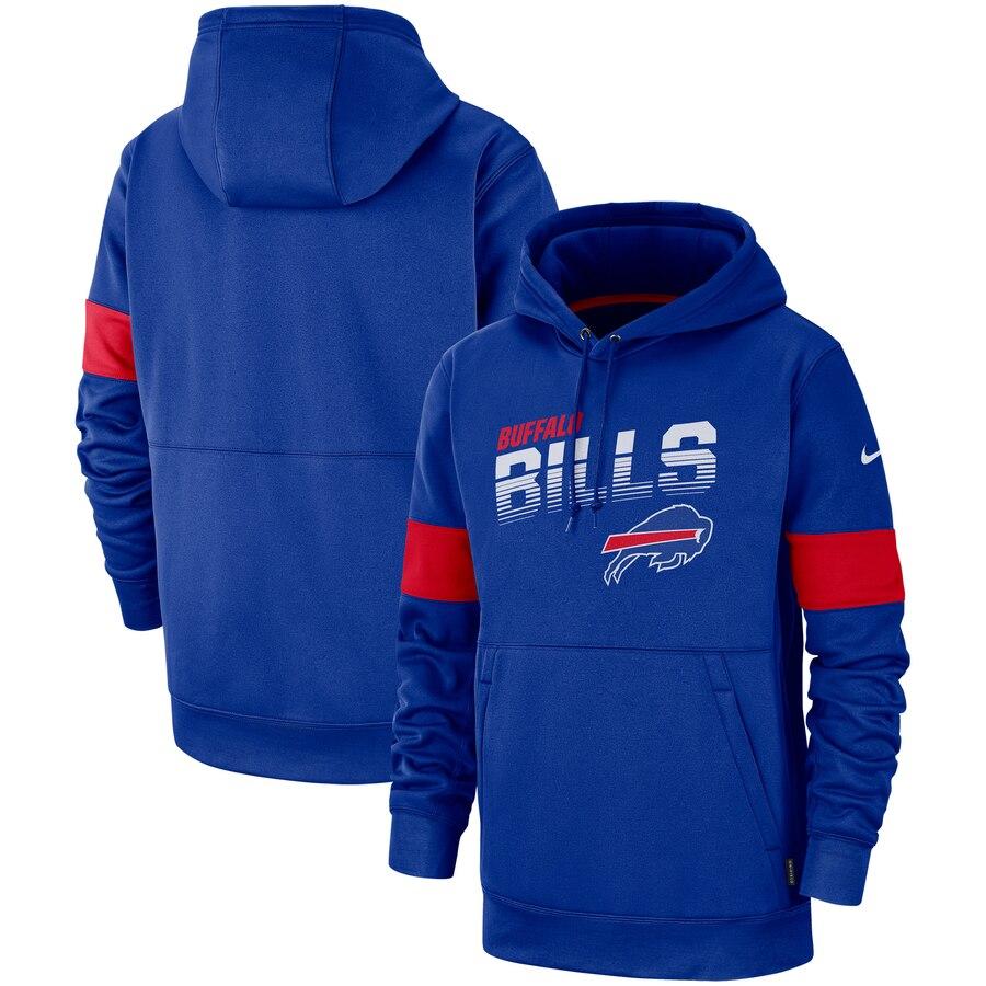Buffalo Bills Nike Sideline Team Logo Performance Pullover Hoodie Royal