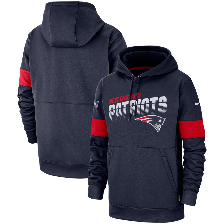New England Patriots Nike Sideline Team Logo Performance Pullover Hoodie Navy