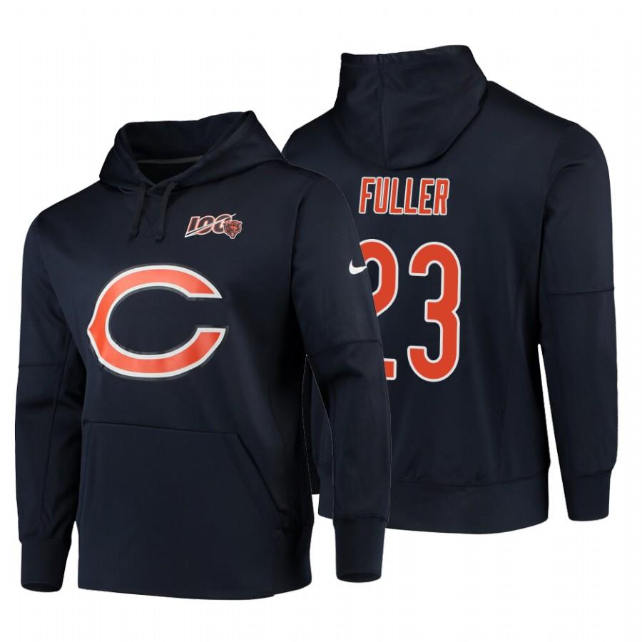 Chicago Bears #23 Kyle Fuller Nike NFL 100 Primary Logo Circuit Name & Number Pullover Hoodie Navy