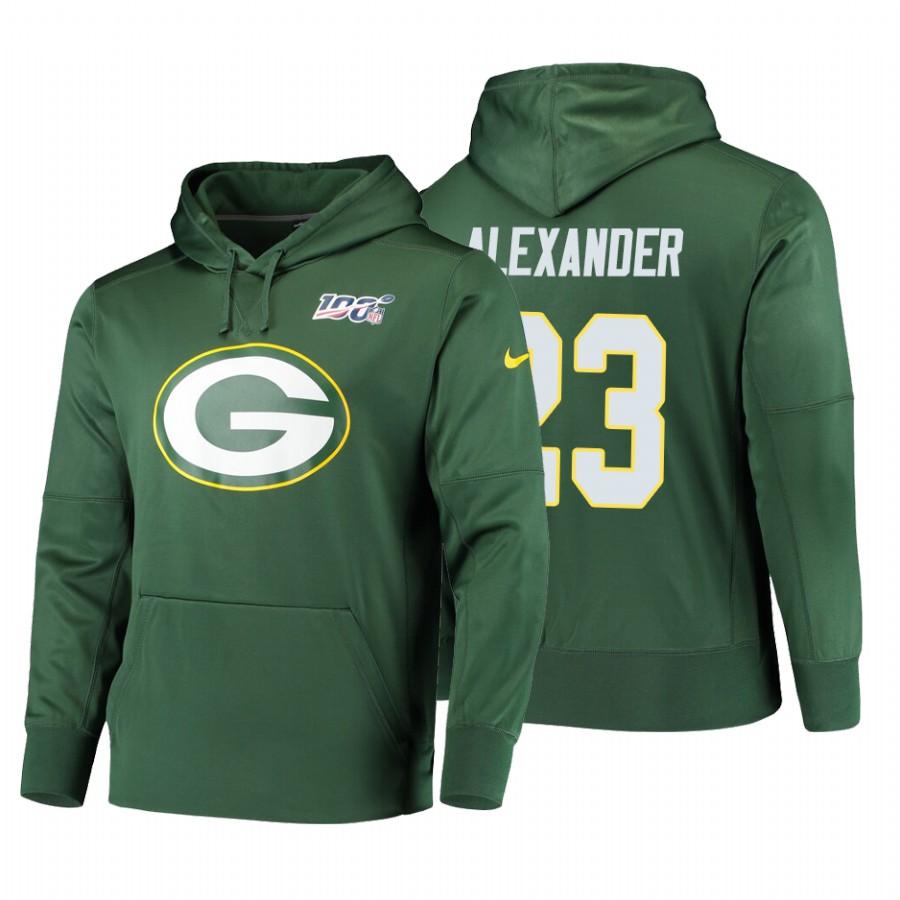 Green Bay Packers #23 Jaire Alexander Nike NFL 100 Primary Logo Circuit Name & Number Pullover Hoodie Green