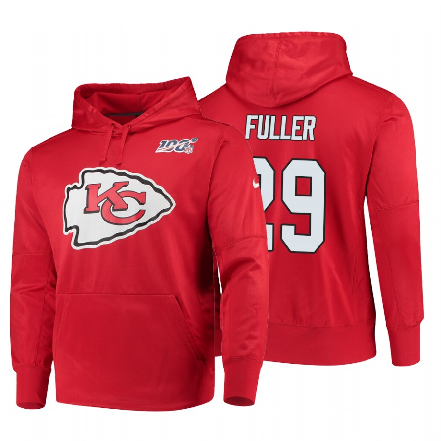 Kansas City Chiefs #29 Kendall Fuller Nike NFL 100 Primary Logo Circuit Name & Number Pullover Hoodie Red