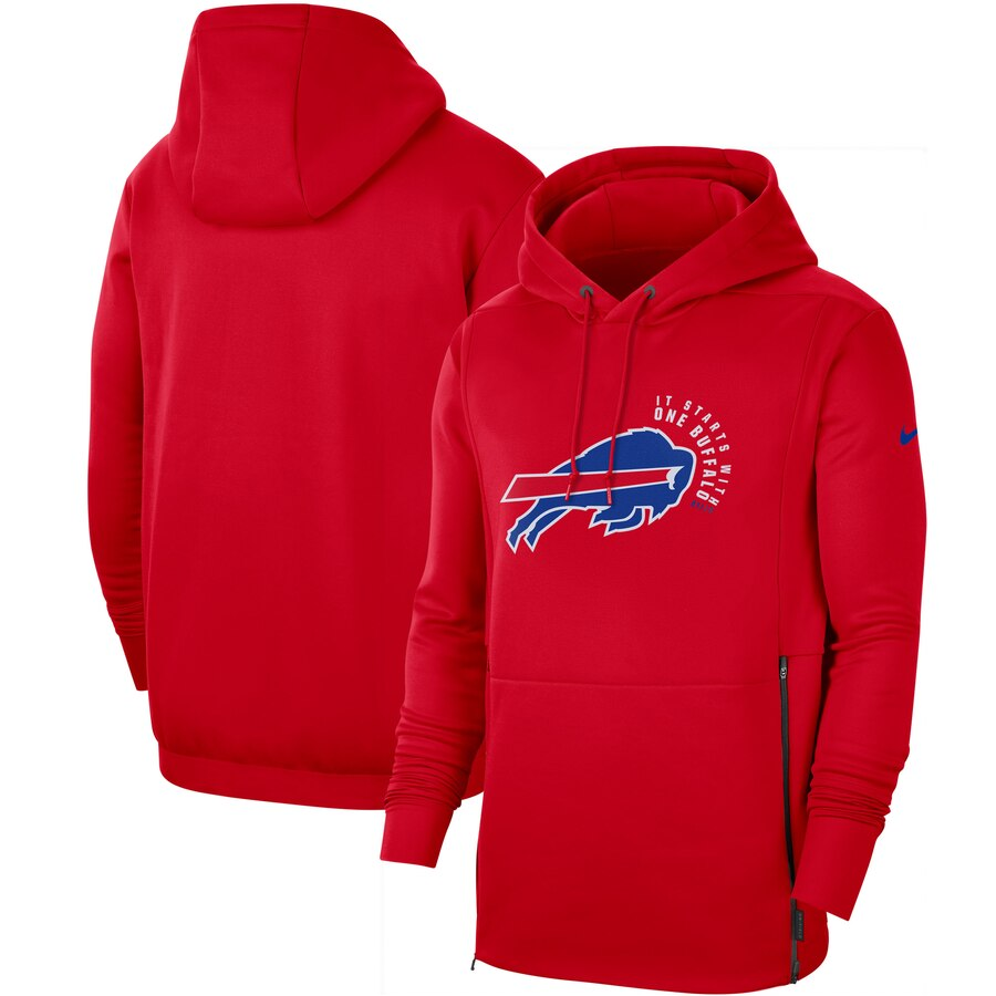 Buffalo Bills Nike Sideline Local Performance Pullover Hoodie Red