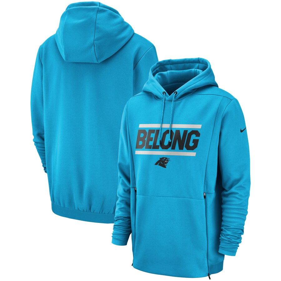 Carolina Panthers Nike Sideline Local Lockup Performance Pullover Hoodie Blue