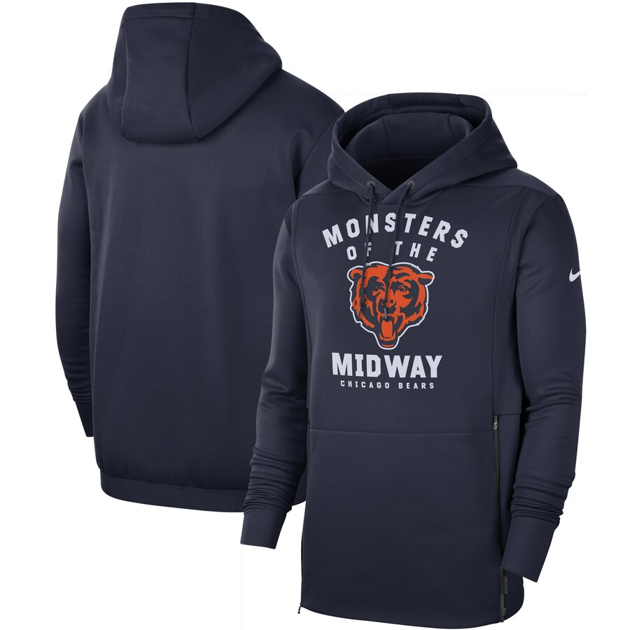 Chicago Bears Nike Sideline Local Performance Pullover Hoodie Navy