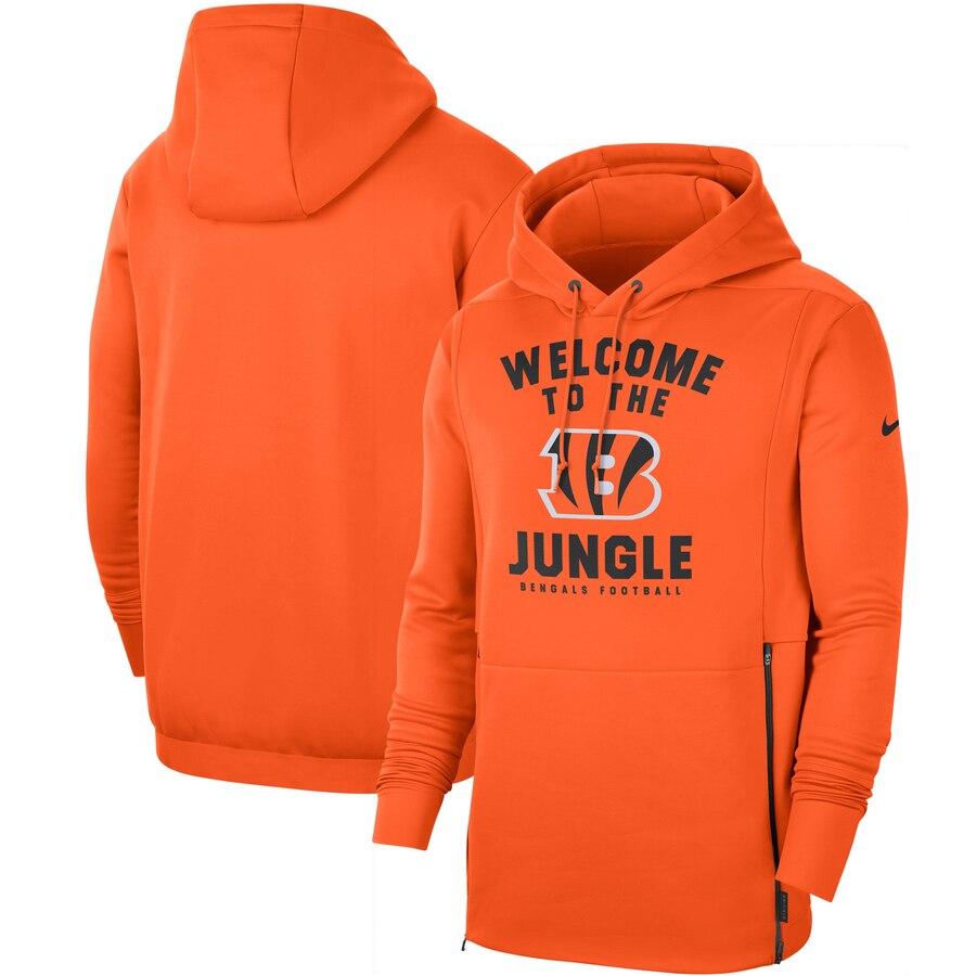 Cincinnati Bengals Nike Sideline Local Performance Pullover Hoodie Orange