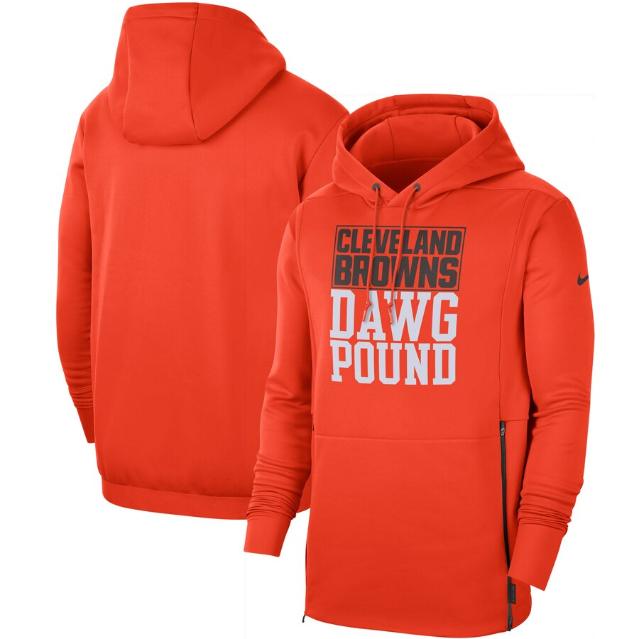 Cleveland Browns Nike Sideline Local Performance Pullover Hoodie Orange
