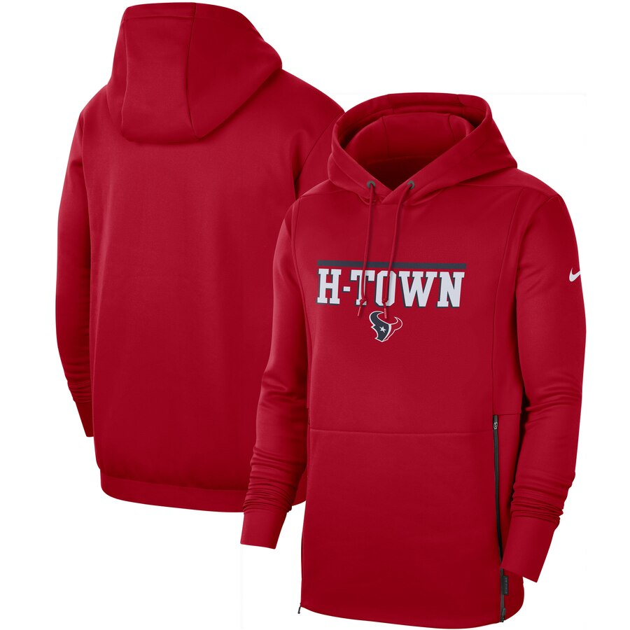Houston Texans Nike Sideline Local Performance Pullover Hoodie Red