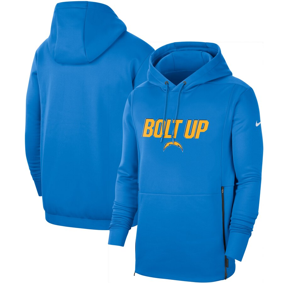 Los Angeles Chargers Nike Sideline Local Performance Pullover Hoodie Powder Blue