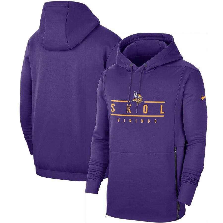 Minnesota Vikings Nike Sideline Local Performance Pullover Hoodie Purple