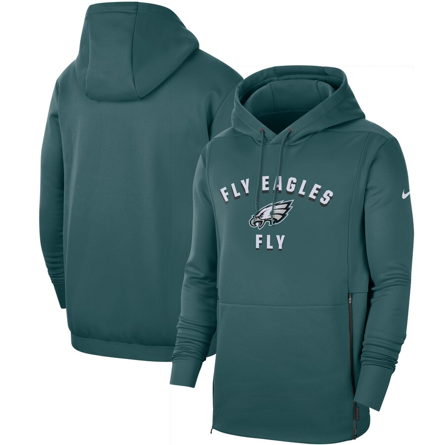 Philadelphia Eagles Nike Sideline Local Performance Pullover Hoodie Midnight Green