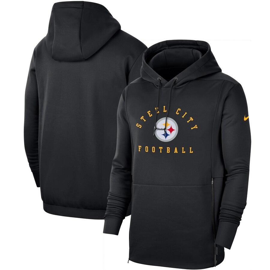 Pittsburgh Steelers Nike Sideline Local Performance Pullover Hoodie Black