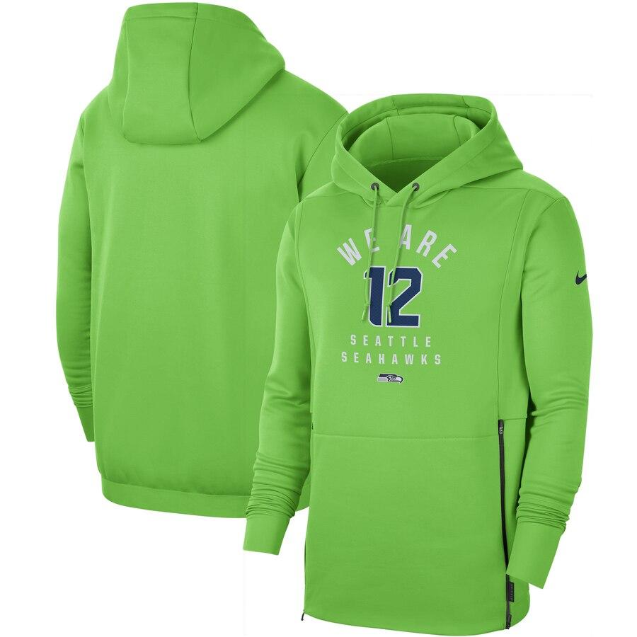 Seattle Seahawks Nike Sideline Local Performance Pullover Hoodie Neon Green