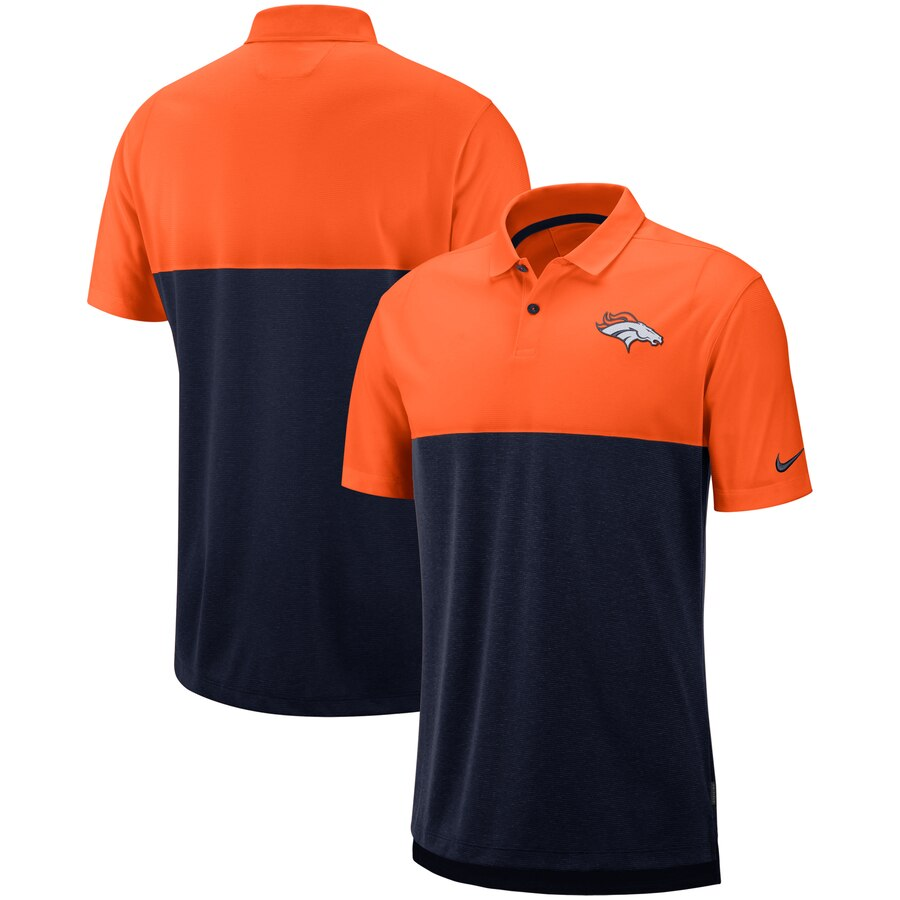 Denver Broncos Nike Sideline Early Season Performance Polo Orange Navy