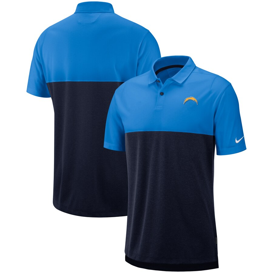 Los Angeles Chargers Nike Sideline Early Season Performance Polo Light Blue Navy