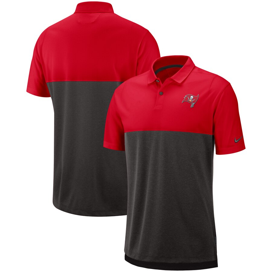 Tampa Bay Buccaneers Nike Sideline Early Season Performance Polo Red Brown