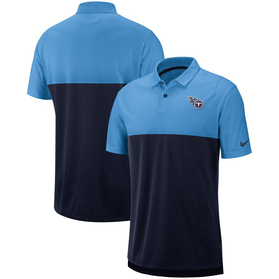 Tennessee Titans Nike Sideline Early Season Performance Polo Light Blue Navy