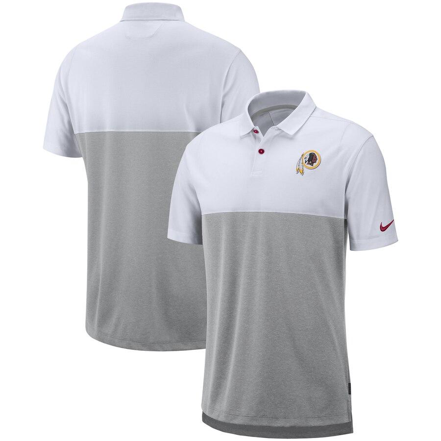 Washington Redskins Nike Sideline Early Season Performance Polo White Gray