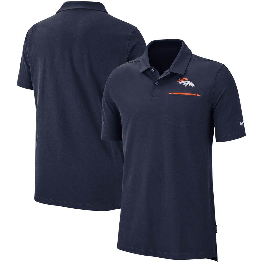 Denver Broncos Nike Sideline Elite Performance Polo Navy