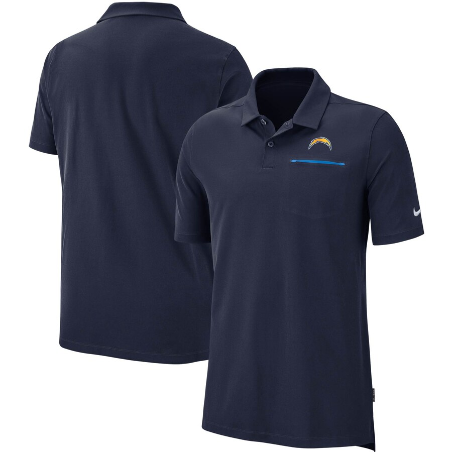 Los Angeles Chargers Nike Sideline Elite Performance Polo Navy