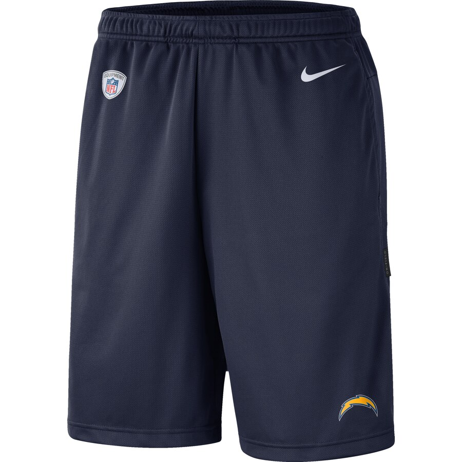 Los Angeles Chargers Nike Sideline Coaches Shorts Navy
