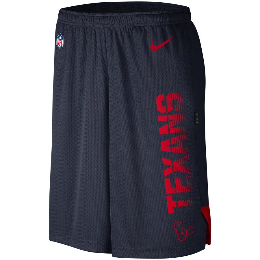 Houston Texans Nike Sideline Player Knit Performance Shorts Navy