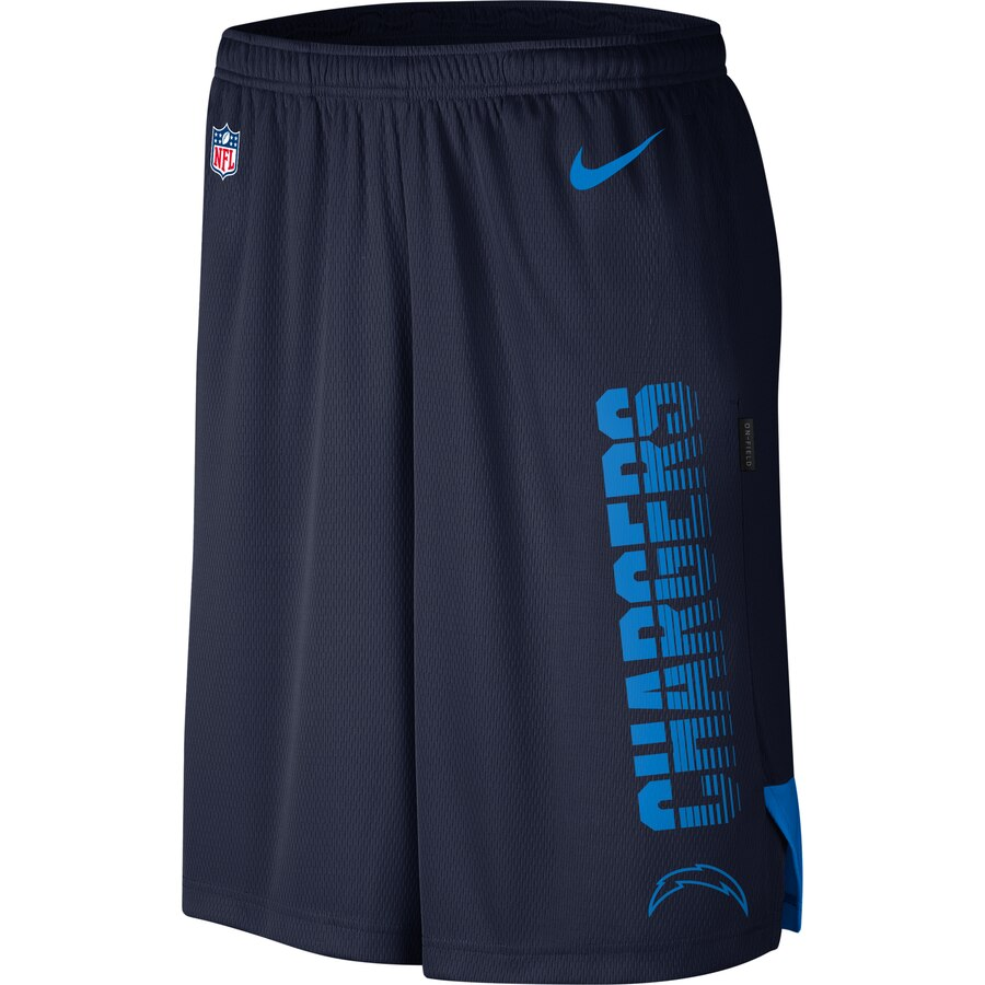Los Angeles Chargers Nike Sideline Player Knit Performance Shorts Navy