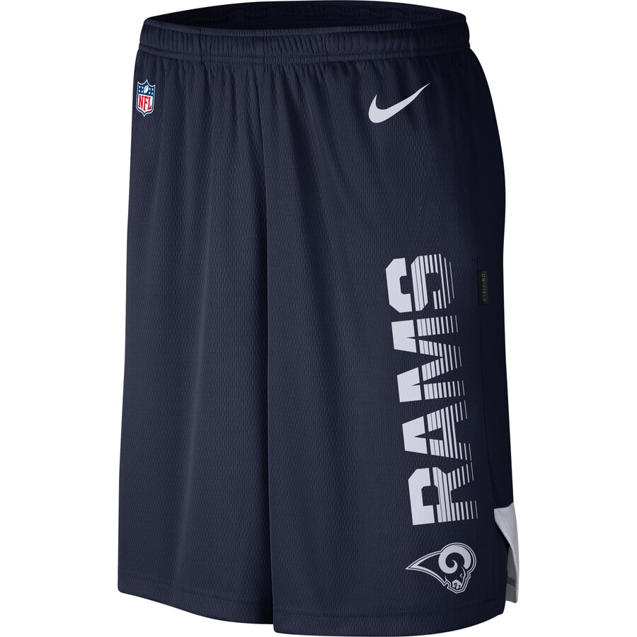 Los Angeles Rams Nike Sideline Player Knit Performance Shorts Navy