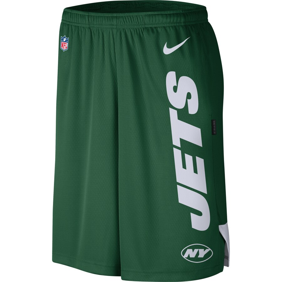 New York Jets Nike Sideline Player Knit Performance Shorts Green
