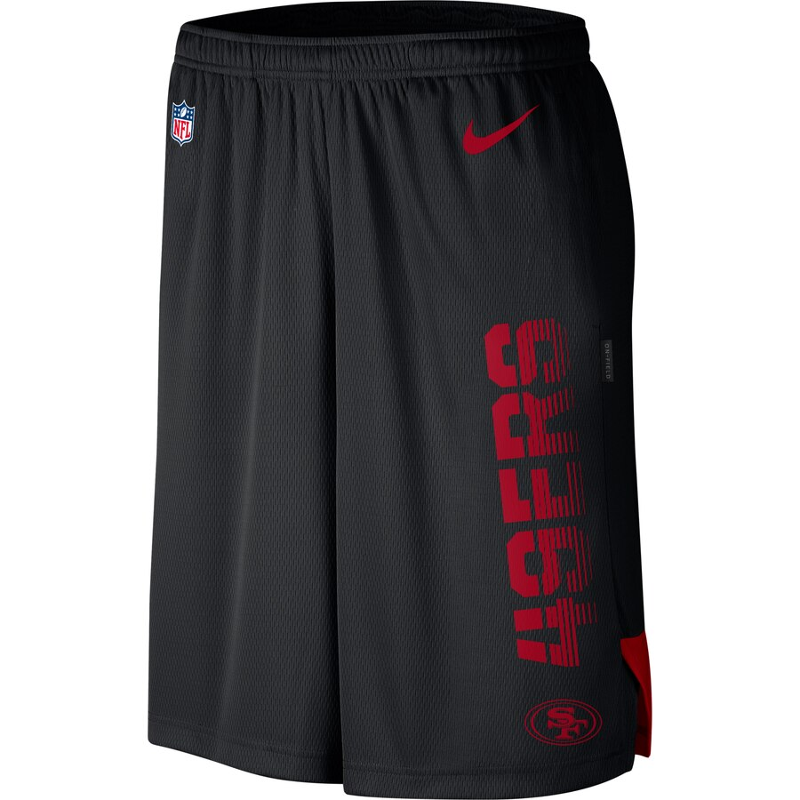 San Francisco 49ers Nike Sideline Player Knit Performance Shorts Black