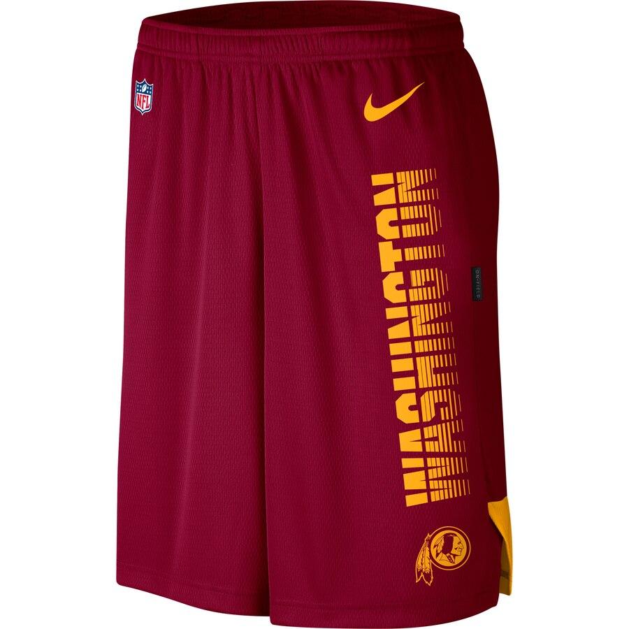 Washington Redskins Nike Sideline Player Knit Performance Shorts Burgundy