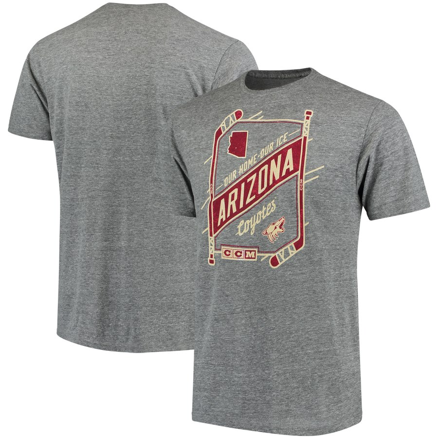 Arizona Coyotes CCM Our Home Our Ice Tri-Blend T-Shirt Gray