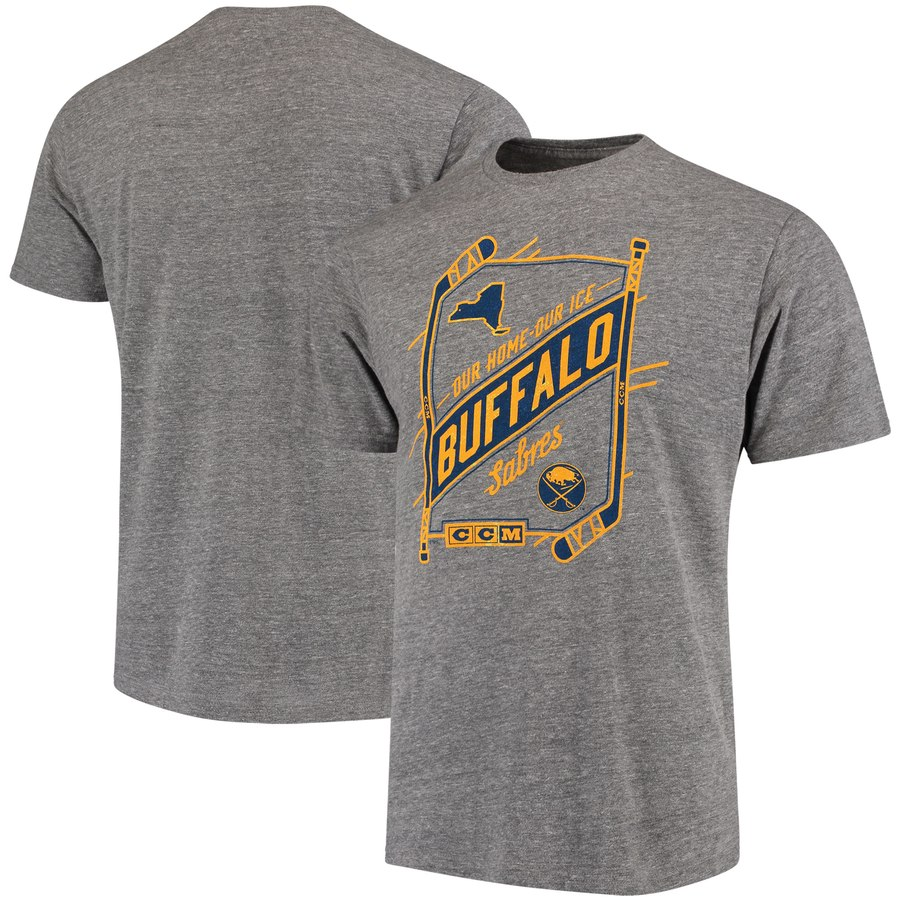 Buffalo Sabres CCM Our Home Our Ice Tri-Blend T-Shirt Gray