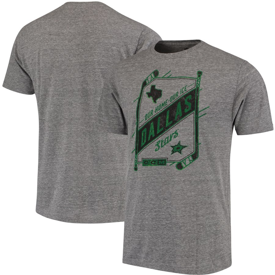 Dallas Stars CCM Our Home Our Ice Tri-Blend T-Shirt Gray