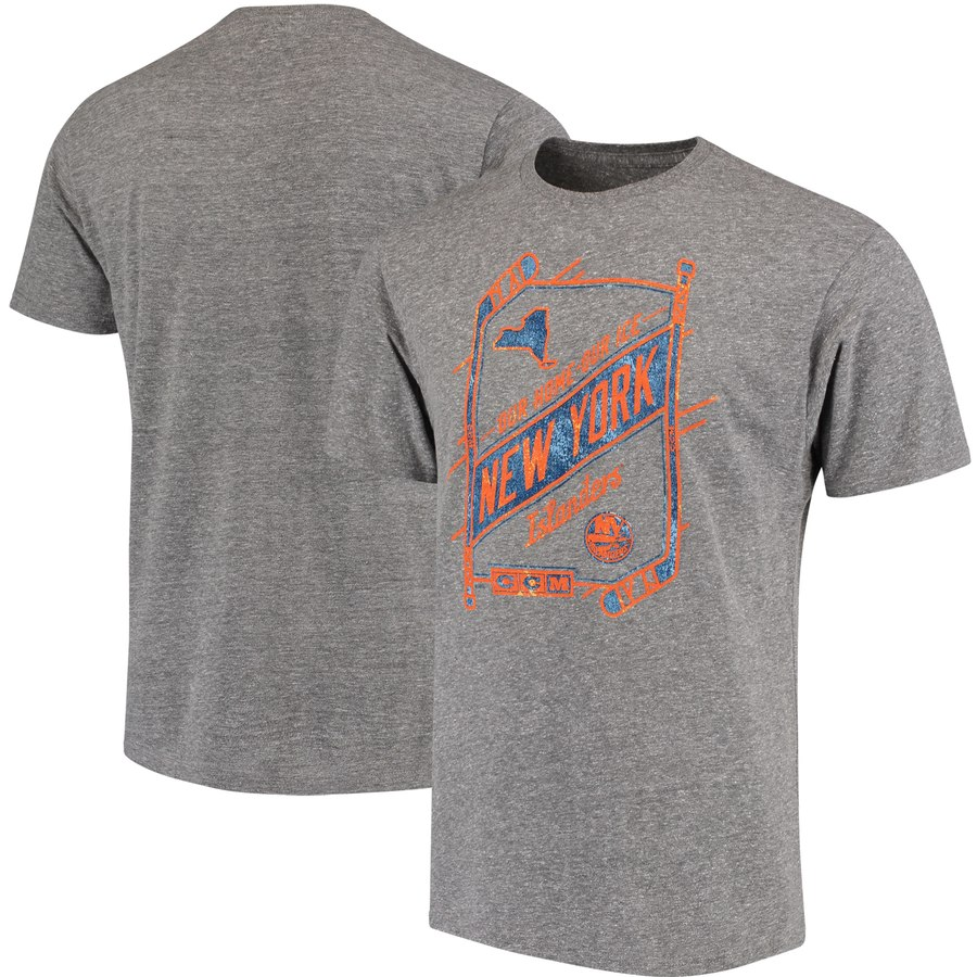 New York Islanders CCM Our Home Our Ice Tri-Blend T-Shirt Gray