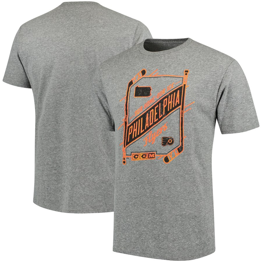 Philadelphia Flyers CCM Our Home Our Ice Tri-Blend T-Shirt Gray