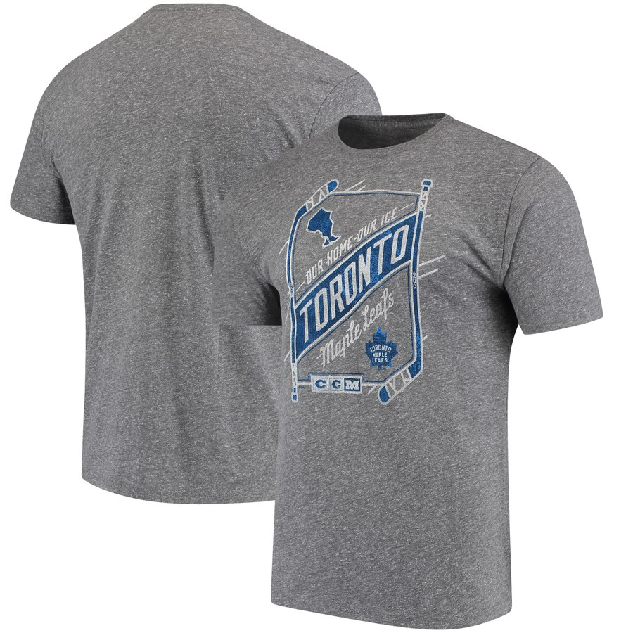 Toronto Maple Leafs CCM Our Home Our Ice Tri-Blend T-Shirt Gray