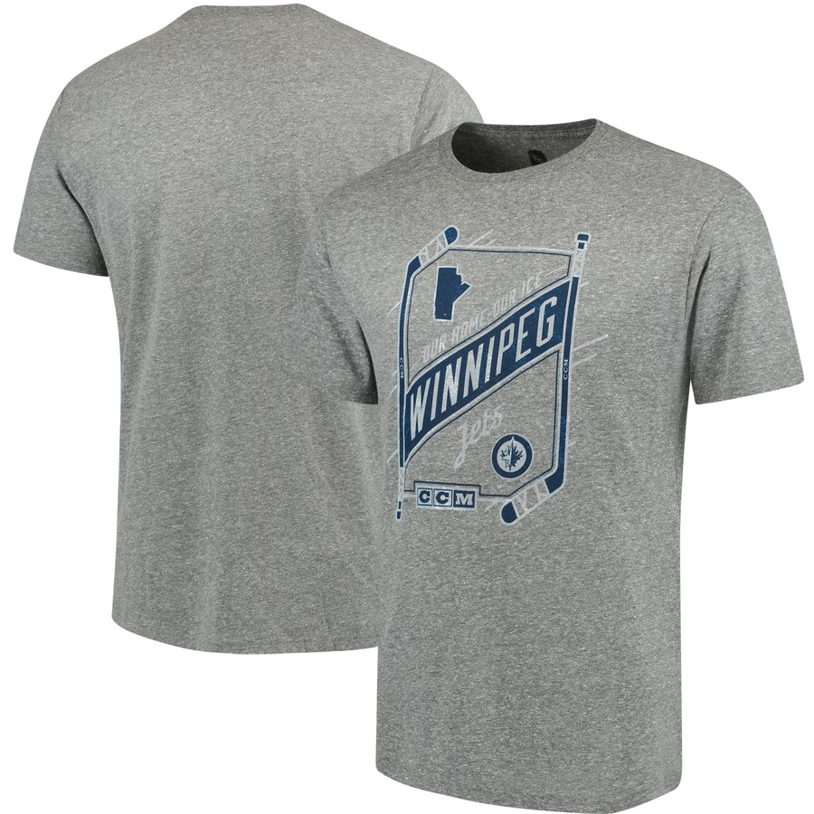 Winnipeg Jets CCM Our Home Our Ice Tri-Blend T-Shirt Gray