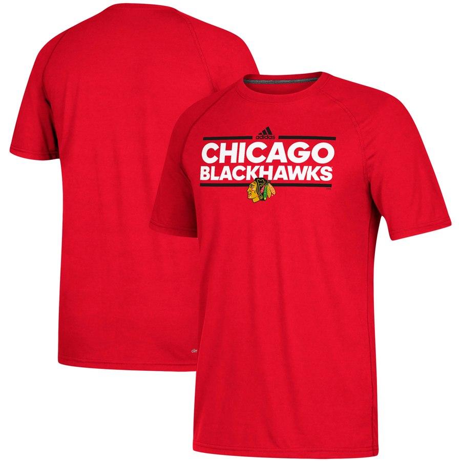 Chicago Blackhawks adidas Dassler climalite T-Shirt Red